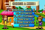 Columns Crown Game Boy Advance Main menu