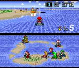 Super Mario Kart SNES If you fall in deep places, call the tow!