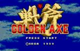 Golden Axe WonderSwan Color Title screen