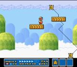 Super Mario All-Stars SNES In some levels, there are platforms like these. Be careful when crossing them or a false step can puts you in danger...