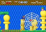 Blue's Journey Neo Geo Blue is trapped in a spider's web