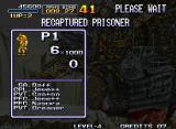 Metal Slug: Super Vehicle - 001 Neo Geo Statistics show how many prisoners you rescued