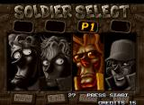 Metal Slug X Neo Geo Character Selection