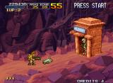 Metal Slug X Neo Geo A mummy comes out from its tomb. Tarmo uses his iron lizard to destroy it