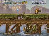Metal Slug X Neo Geo It's a bit cold riding a boat wiearing nothing but your socks