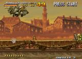 Metal Slug X Neo Geo Tarmo riding a plane