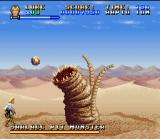 Super Star Wars SNES This monster is the first boss. Very easy! Only shoot and shoot.