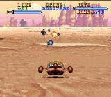 Super Star Wars SNES The landspeeder level uses the SNES Mode 7 effect. Soft control and excellent playability!