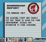 Player Manager 2001 Game Boy Color Boardroom Report