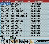 Player Manager 2001 Game Boy Color Fixtures