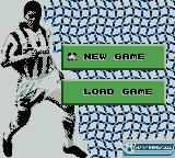 Player Manager 2001 Game Boy Color Opening Menu
