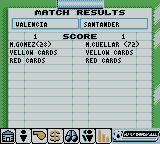 Player Manager 2001 Game Boy Color Post Match Report