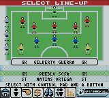 Player Manager 2001 Game Boy Color Line-up selection