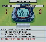 Player Manager 2001 Game Boy Color A match in progress