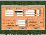 Empire II: The Art of War DOS Game setup options.