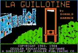 La Guillotine Apple II Title Screen