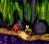 Donkey Kong Country Game Boy Color DK's animation when losing 1 life.