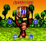 Donkey Kong Country Game Boy Color Main menu