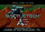BattleTech: A Game of Armored Combat Genesis Title screen