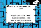 Peanuts Picture Puzzler Apple II Introduction