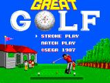 Great Golf SEGA Master System Title