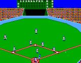 Great Baseball SEGA Master System A bird's-eye view of the field