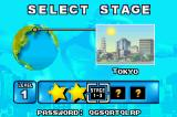 Rampage Puzzle Attack Game Boy Advance Stage selection screen