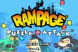 Rampage Puzzle Attack Game Boy Advance Title screen
