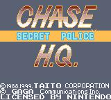 Chase H.Q.: Secret Police Game Boy Color Title Screen