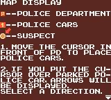 Chase H.Q.: Secret Police Game Boy Color One of the help screens