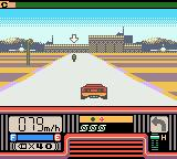 Chase H.Q.: Secret Police Game Boy Color Driving towards some warehouses