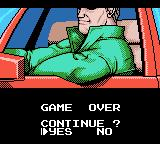 Chase H.Q.: Secret Police Game Boy Color Game over, man!