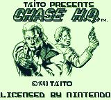 Chase H.Q. Game Boy Title Screen