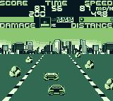 Chase H.Q. Game Boy A car gets in your way