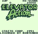 Elevator Action Game Boy Title