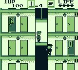 Elevator Action Game Boy Riding the elevator
