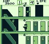 Elevator Action Game Boy Entering a door with some documents inside