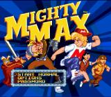 The Adventures of Mighty Max Genesis Title screen