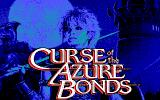 Curse of the Azure Bonds DOS Title screen #2