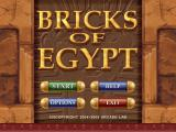 Bricks of Egypt Windows Main menu