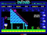 Phantomas Saga: Infinity ZX Spectrum Now up the stairs
