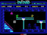 Phantomas Saga: Infinity ZX Spectrum Avoiding the baddies