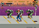 Mutation Nation Neo Geo Fighting on top of a truck