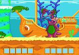Barney's Hide & Seek Game Genesis Sunken ship with lots of fish