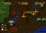 Ghost Pilots Neo Geo Holes in the earth where a fighter jet was shot down