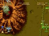 Ghost Pilots Neo Geo About to fly over a volcano