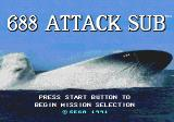 688 Attack Sub Genesis Title screen