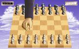 Sargon V: World Class Chess DOS (VGA) Wooden board w/ metal pieces, human's turn
