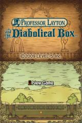 Professor Layton and the Diabolical Box Nintendo DS Title screen (USA)