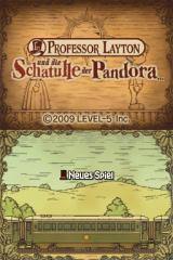 Professor Layton and the Diabolical Box Nintendo DS Title screen (German)